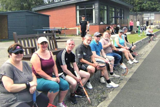 Kirktonhill tennis marathon lasted from 8am to 8pm with various competitions throughout the day
