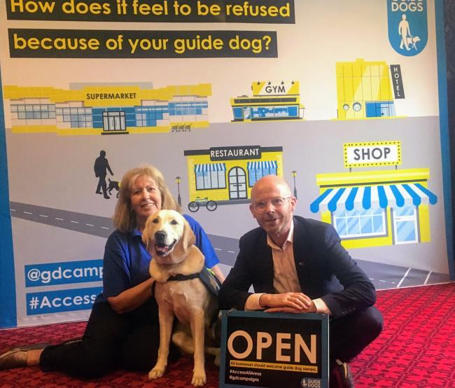 Martin Docherty-Hughes has pledged his support for Guide Dogs UK