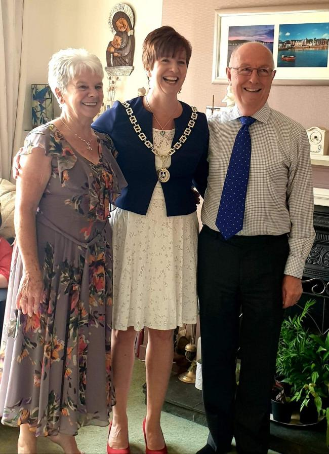 Mr and Mrs Murray with their daughter Karen who is the deputy provost