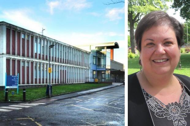 The Out of Hours building at The Vale of Leven Hospital and Jackie Baillie MSP