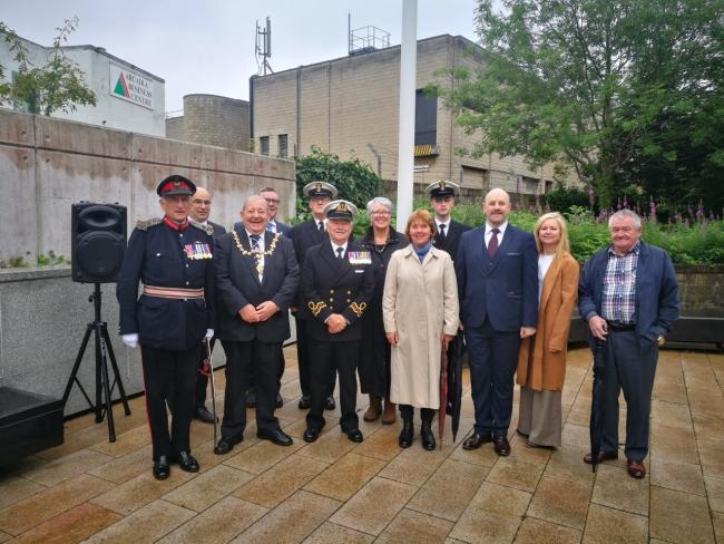 West Dunbartonshire Council marks Merchant Navy Day at flag-raising ceremony