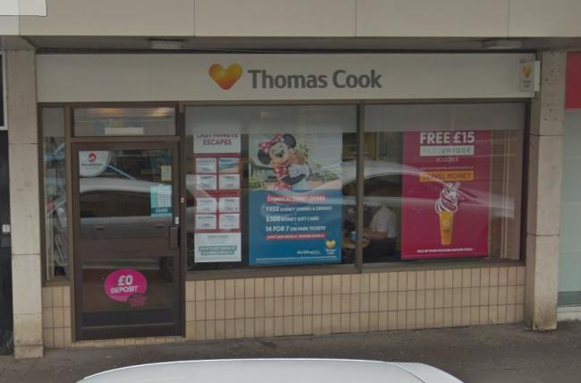 Thomas Cook branch in Alexandria, now closed