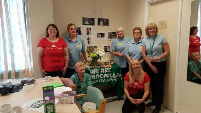 Hospital staff hosted a coffee morning