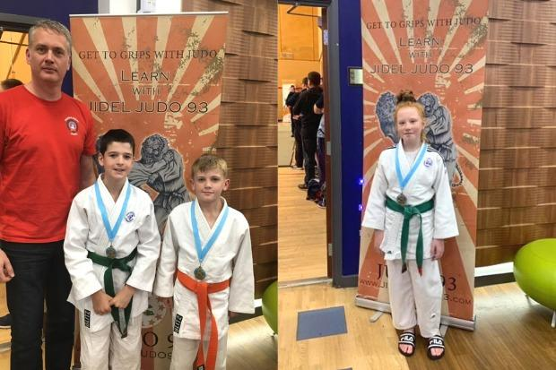 The three young Osaka Kwai judoka impressed at their penultimate competition of the year