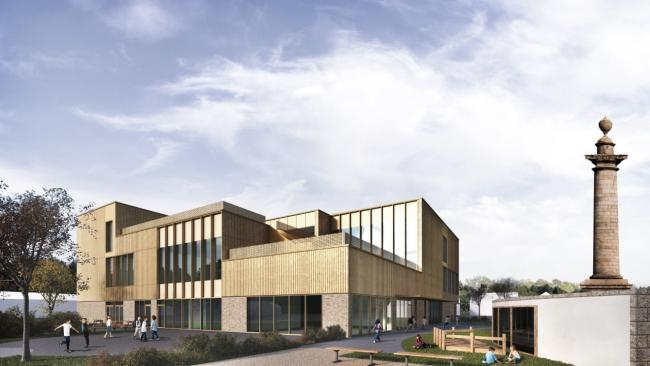 An artist's impression of how the new campus will look
