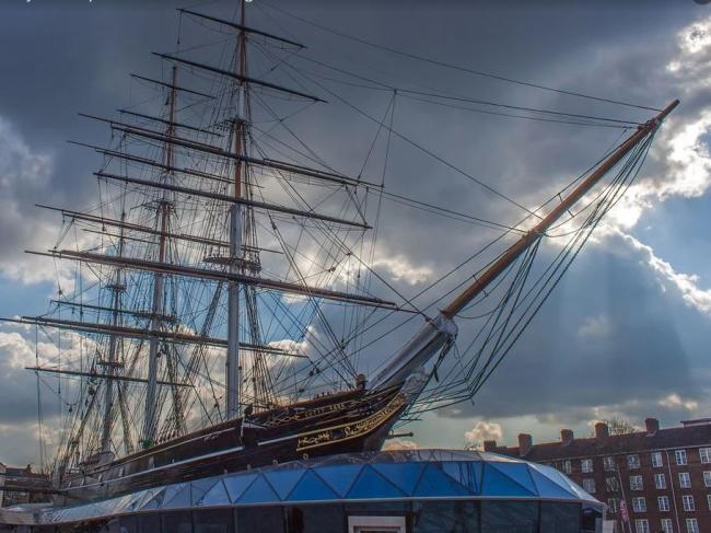 Cutty Sark is now berthed at Greenwich Maritime Museum in London