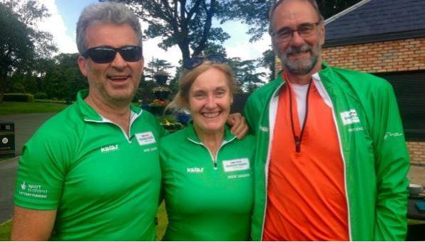 Jack Fordy pictured with other cycle leaders Jim and Dorothy O'Donnell