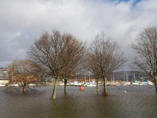 Areas of Dumbarton were flooded last weekend