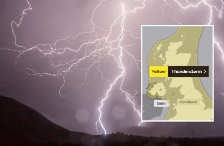 'Danger to life' warning as thunderstorms to batter Scotland for two days