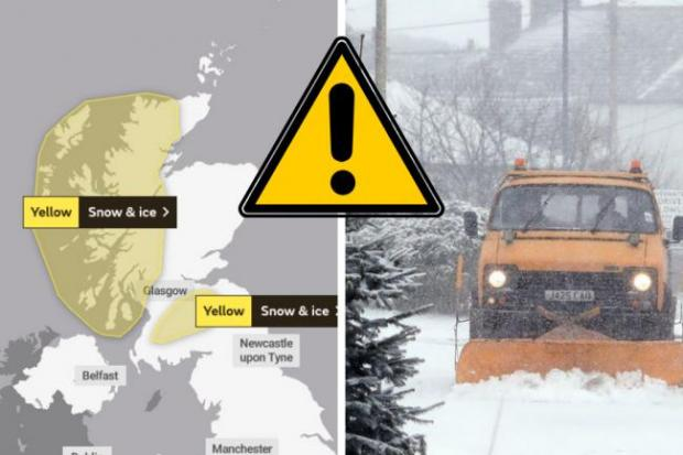 A yellow weather warning for snow and ice has been issued by the Met Office
