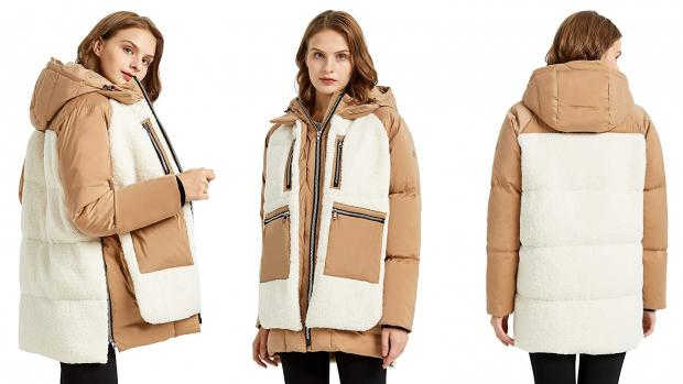 Dumbarton and Vale of Leven Reporter: The soft sherpa exterior wraps around the entire coat. Credit: Orolay