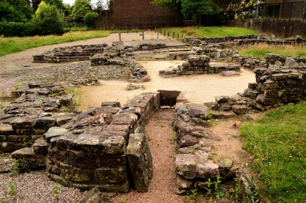 Dumbarton and Vale of Leven Reporter: The ancient Roman baths complex at Bearsden, which formed part of the Antonine Wall