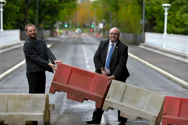 Councillors officially reopened the bridge in Balloch this morning