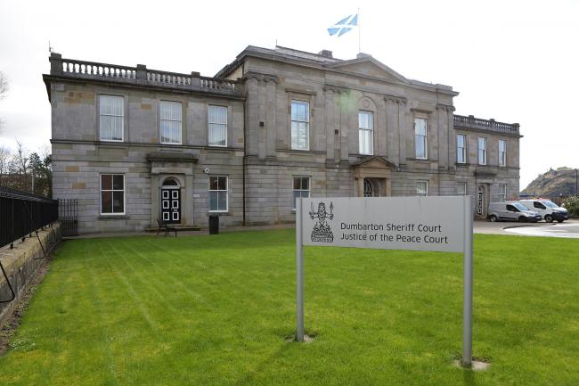 A Dumbarton man has been spared jail after assaulting his ex