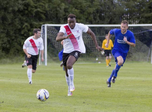 Joel Kasubandi in action for Clydebank last season