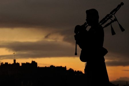 A lone piper will play in Cardross on Sunday