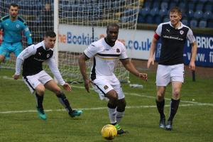 Christian Nade scored his first away goal for the Sons             Photo: Andy Scott