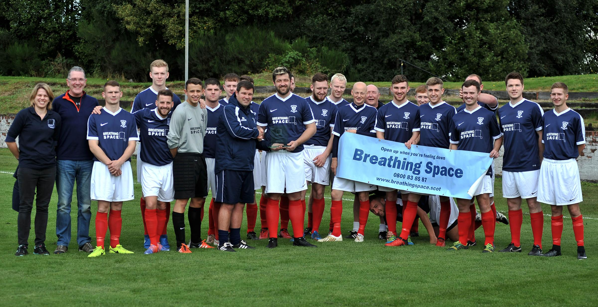 Vale of Leven's Breathing Space player of the month award goes to entire squad after outstanding performances