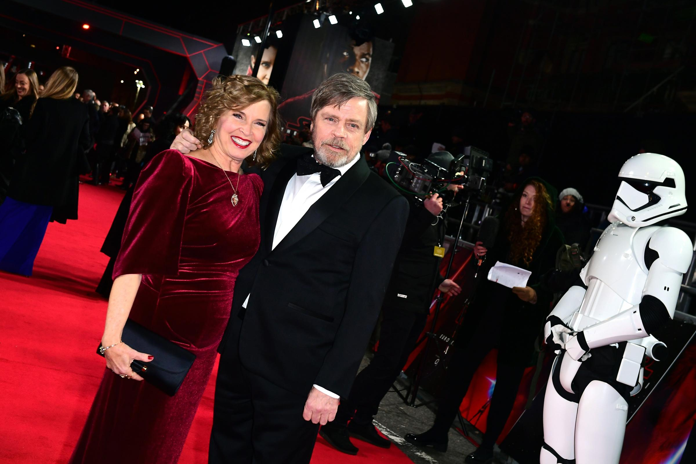 Marilou York and Mark Hamill (Ian West/PA)