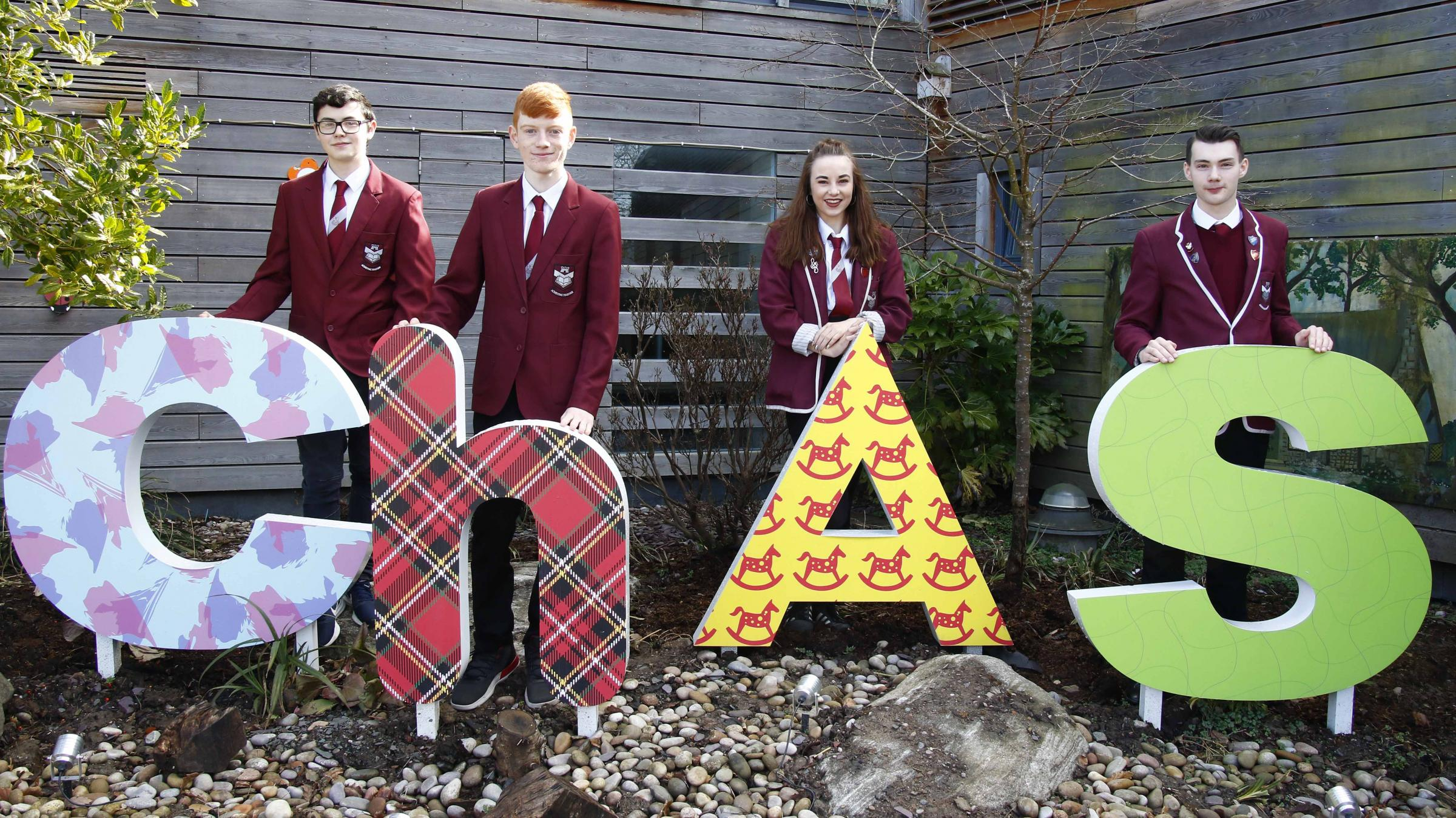 Sixth years Jamie Bakhsh and Niamh MacEachran, and fourth years Connor McFadden and Cameron Munro