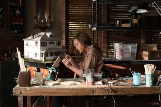 Undated film still handout from Hereditary. Pictured: Toni Collette as Annie Graham. See PA Feature SHOWBIZ Film Digest. Picture credit should read: PA Photo/Entertainment Film Distributors/Reid Chavis. WARNING: This picture must only be used to accompany