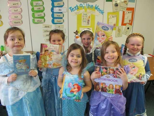 Some of the children from St Patrick's celebrating World Book Day earlier this year