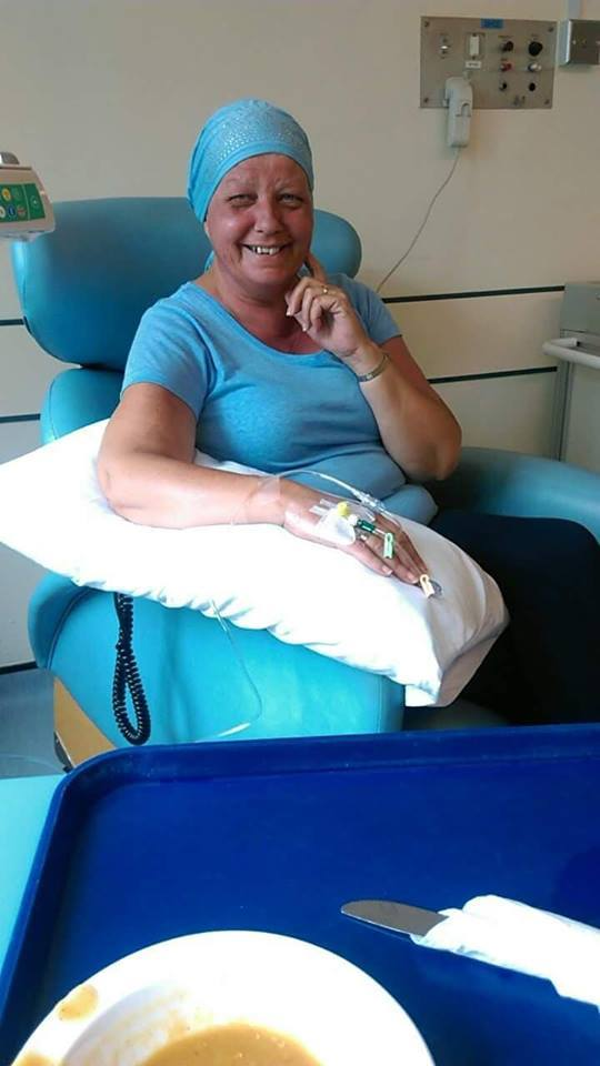 Kim Gibson is currently receiving her treatment for breast cancer at the Vale of Leven Hospital