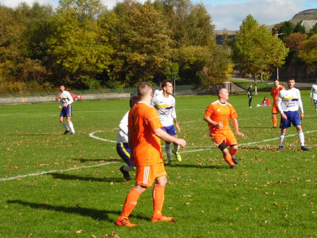 Accies in action against Port Glasgow