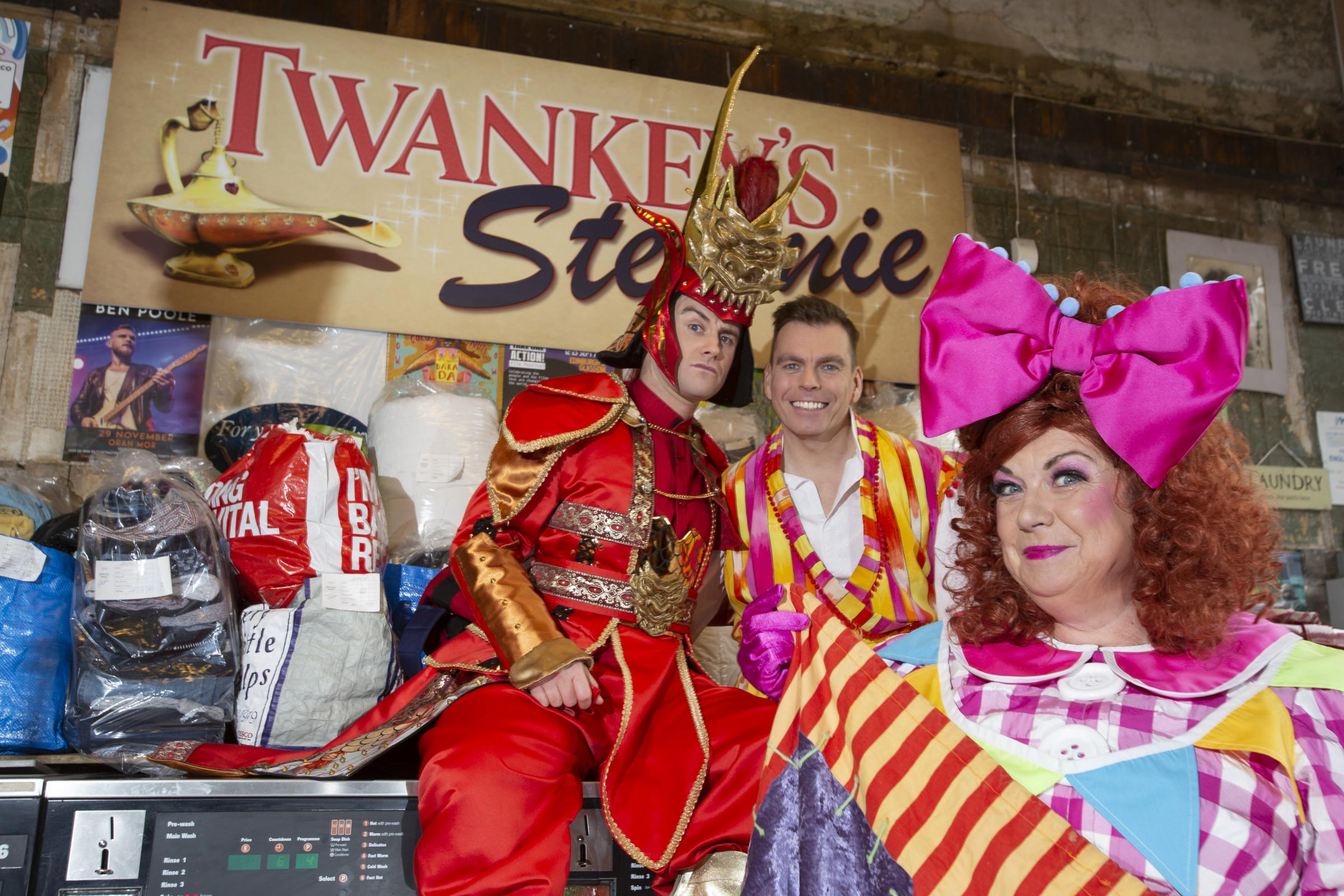 The KIng's Theatre Aladdin panto stars Elaine C Smith, Johnny Mac and Paul-James Corrigan.