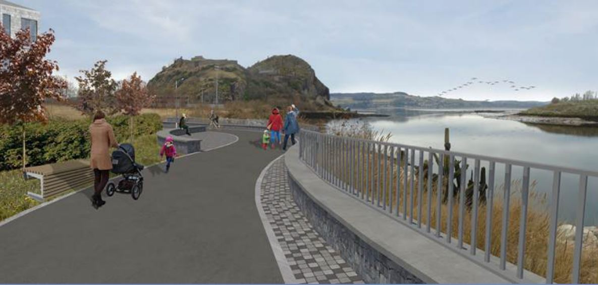 The walkway would connect Dumbarton Castle to the town centre