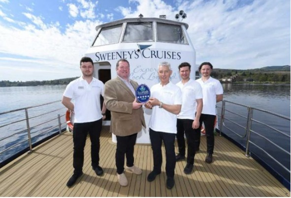 Sweeney's Cruises have come top in the category for best outdoor experience
