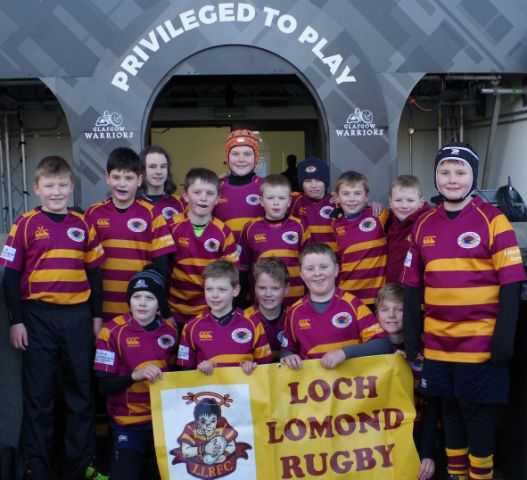 Loch Lomond kids proud to represent their club at the home of the Glasgow Warriors
