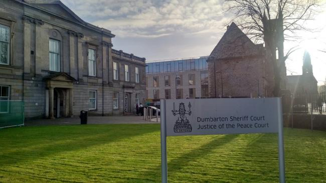 Christopher Daniel appeared at Dumbarton Sheriff Court