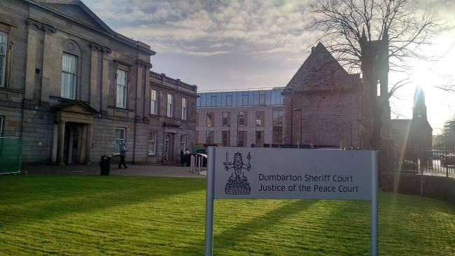 Coulthard appeared at Dumbarton Sheriff Court