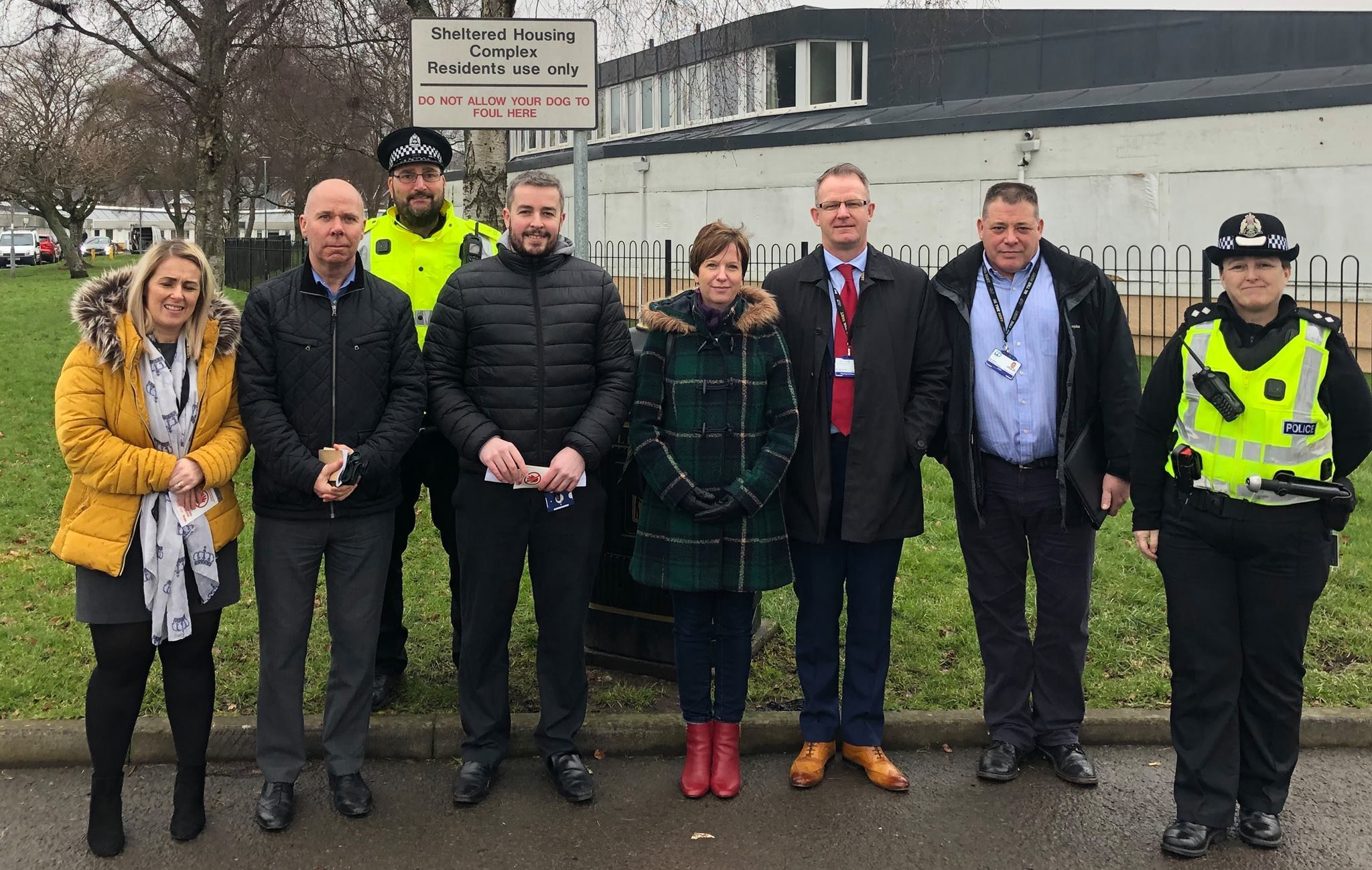 West Dunbartonshire Community Police officers joined colleagues from the CID and Community Safety for a 'walkabout'