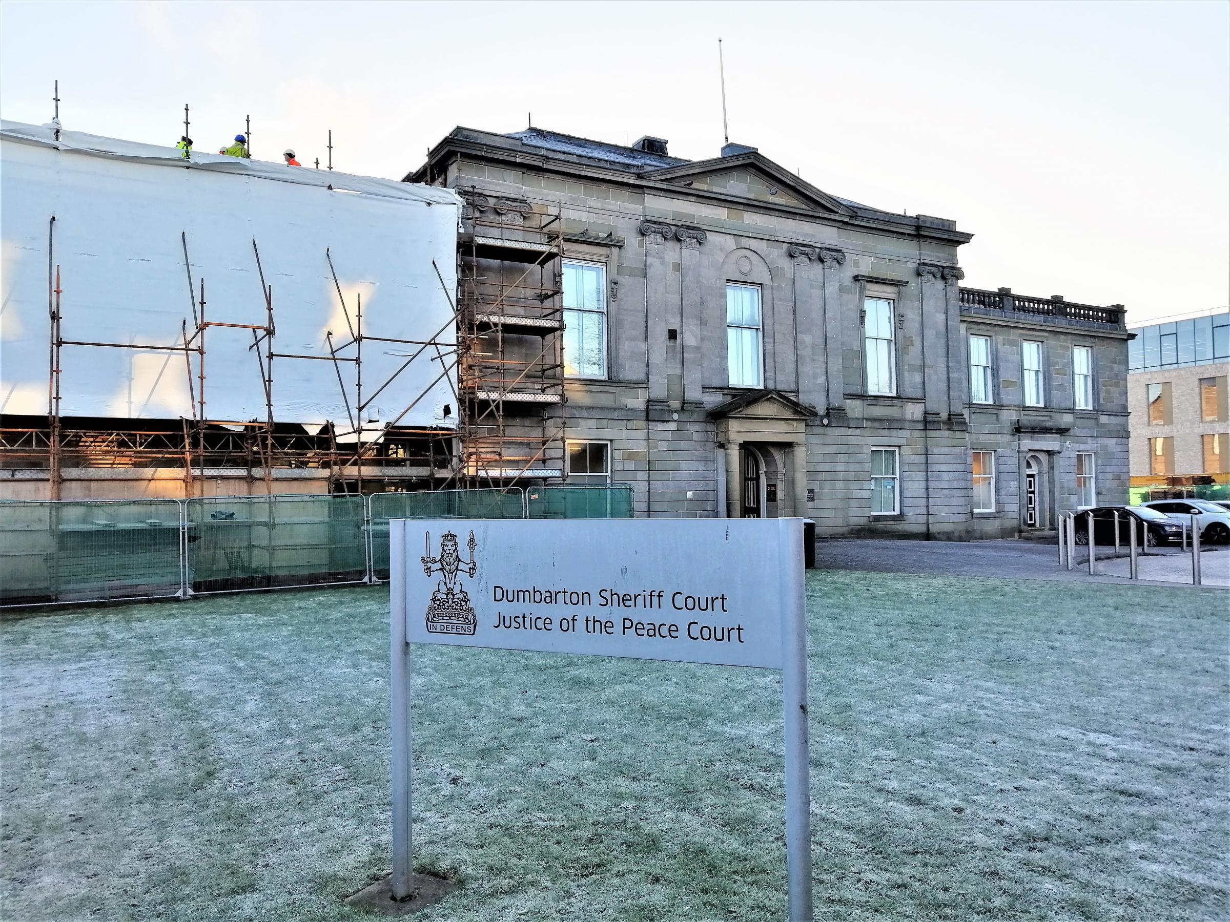 Dumbarton Sheriff Court, where Lee McCallum was sentenced on February 1