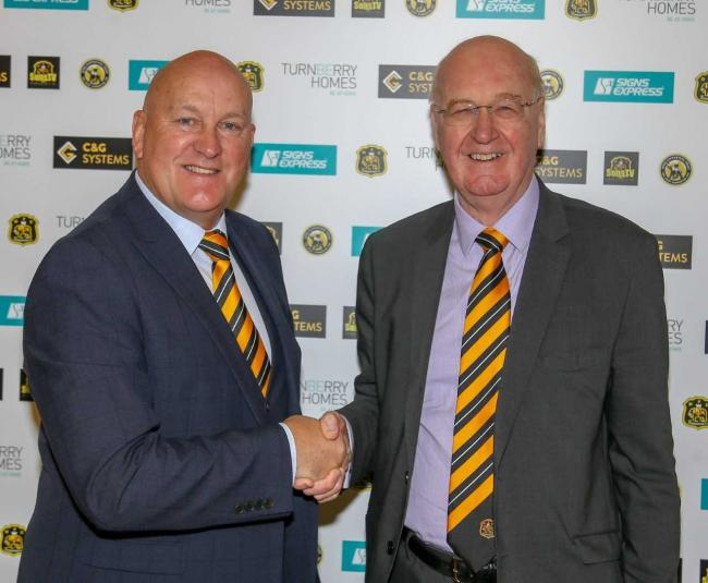 Sons manager Jim Duffy and chairman John Steele
