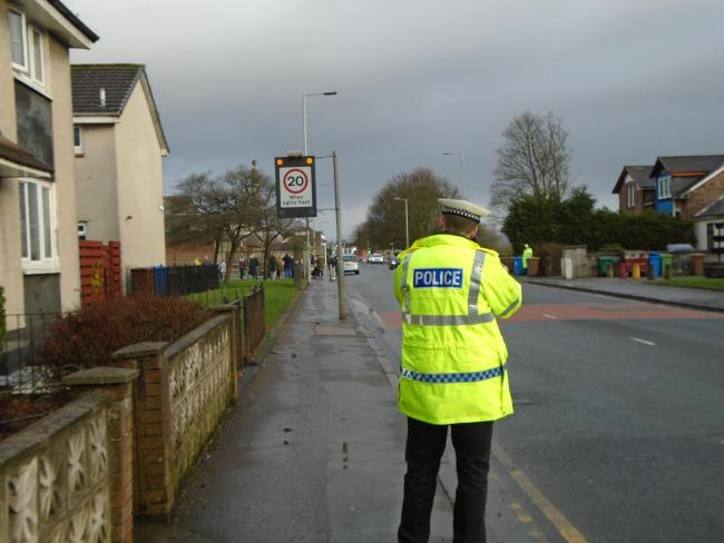 Police carried out road checks at Renton Primary School this week