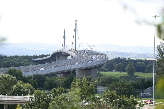 Erskine Bridge is currently closed to high-sided vehicles