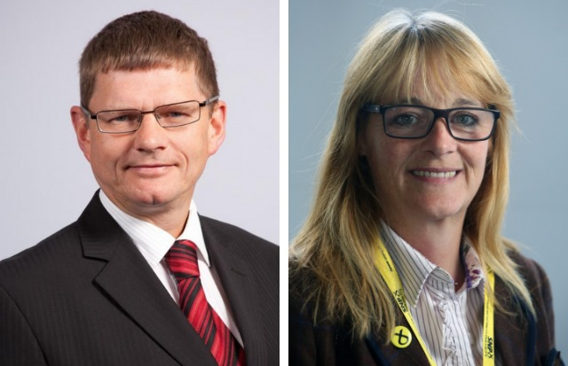 Councillors Martin Rooney and Caroline McAllister