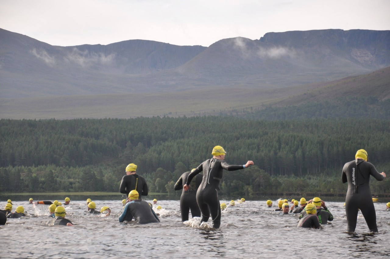 Swimmers take part in a previous event at the loch