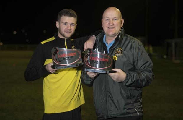 Dumbarton and Vale of Leven Reporter: Thomas and Sons gaffer Jim Duffy picked up the Player and Manager of the Month award for February