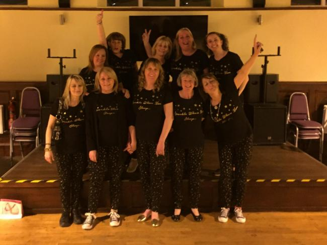 Vale of Leven nursing staff at the Gin and Jammies Night