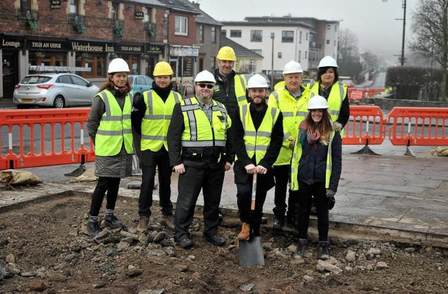 Construction gets underway at Balloch village square