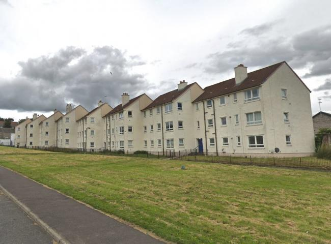 The incident happened at a block of flats in Kyle Terrace (Pic - Street View)