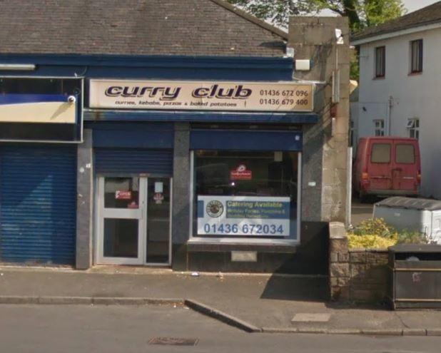 Smith told police he was working as a delivery driver for the Curry Club in Helensburgh when he was stopped on suspicion of being unfit to drive