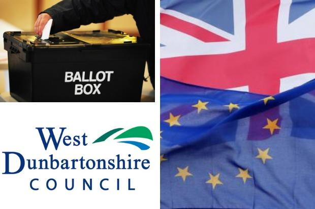 The European Parliament election result in West Dunbartonshire was declared on Sunday night
