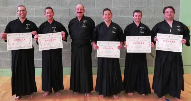 Five members of Yushinkan Iaido Dojo in Dumbarton achieved passes