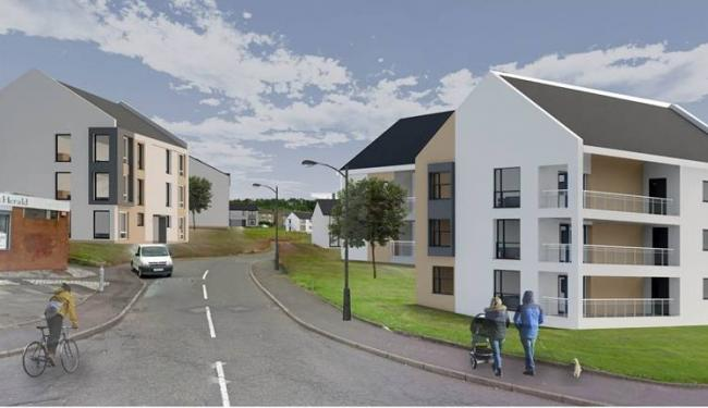 Architect's impression of proposed Muir Road regeneration