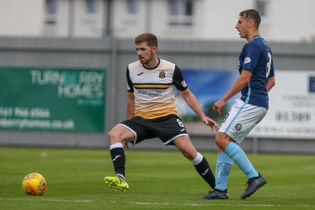 Dumbarton and Vale of Leven Reporter: Hutton becomes first player from last season to sign up for the 2019/20 campaign (Photo: Andy Scott)